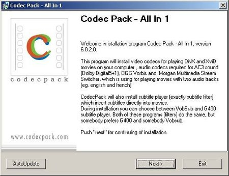 Codec Pack All in One 6.0.3.0