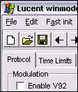 Lucent win modem tune 1.0
